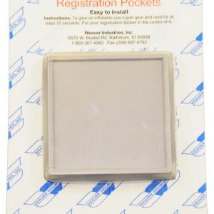 "Registration Sticker Holders for Inflatable Boats, Pair, 3""x3"""