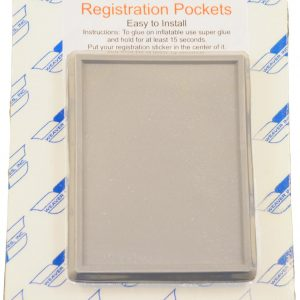 Registration Sticker Holders for Inflatable Boats, Pair, 3 x 4