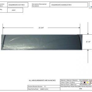 Walker Bay Boat Daggerboard, 8PSK #24057