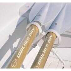 Walker Bay Boat Oars, WB8/10 6.5' Hydrocurve w/Oarlocks, Collars, Blades #3002030170