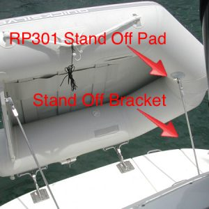 Weaver Davit Stand-Off Pad - Gray (Weaver Part # RP301)