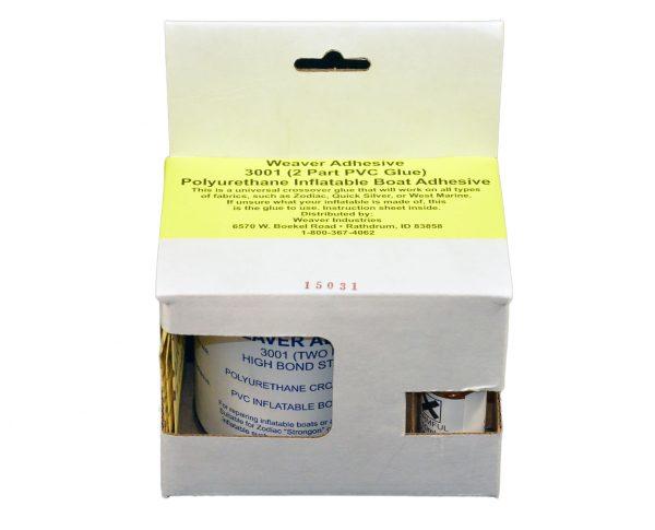 1/4-Liter - 2-Part Weaver PVC Glue for Zodiac & PVC Inflatable Boats, (Part #3001), Single 1/4 liter
