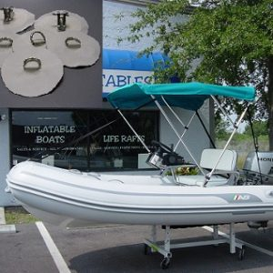 Sunbrella 3-Bow Bimini Kit for Inflatable Boats with Hardware