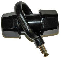 AB Oarlock, Pin-Type and Pin Assembly, Black, Each, Single Oarlock