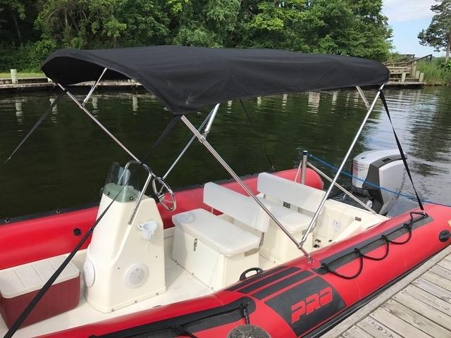 3 Bow Boat Pontoon Bimini Top Fabric Canvas W//Boot 4 Bow